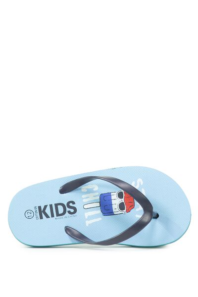 Printed Flip Flop, B STAY CHILL