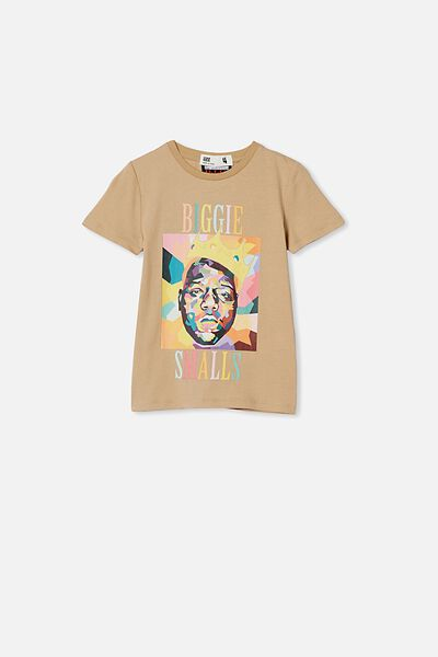 Lux Short Sleeve Tee, LCN MT SEMOLINA/ABSTRACT BIGGIE