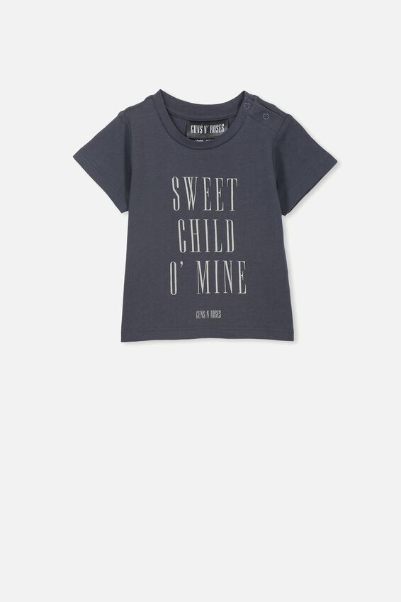 Jamie Short Sleeve Tee, LCN BR GRAPHITE GREY/SWEET CHILD O'MINE