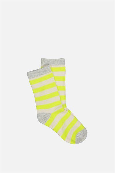 Fashion Kooky Socks, B CITRON STRIPE