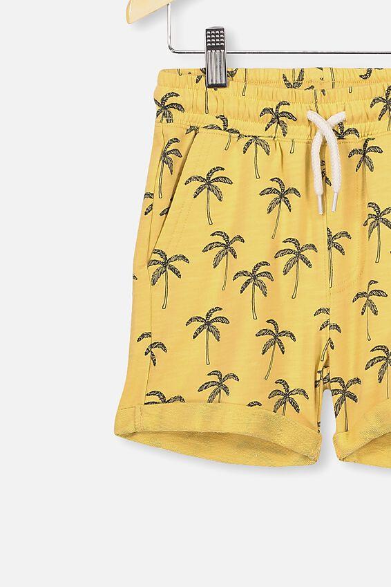Henry Slouch Short, CORNSILK/PALM TREES