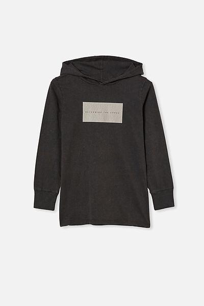 Jackson Hooded Long Sleeve Tshirt, PHANTOM/NEVER MIND THE CHAOS
