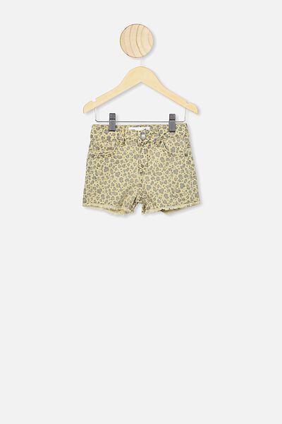 Cleo Raw Edge Denim Short, SAND DUNE ANIMAL