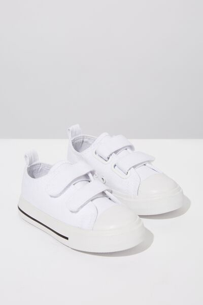 Mini Classic Trainer, WHITE CANVAS