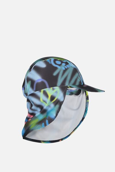 Swim Hat, GRAPHITE/GRAFFITI