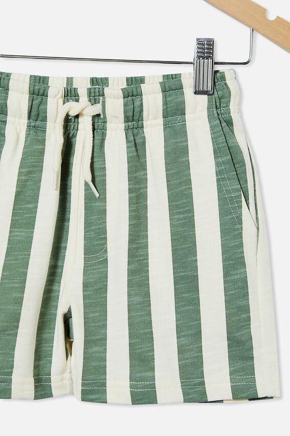 Henry Slouch Short 60/40, SWAG GREEN/CANDY STRIPE