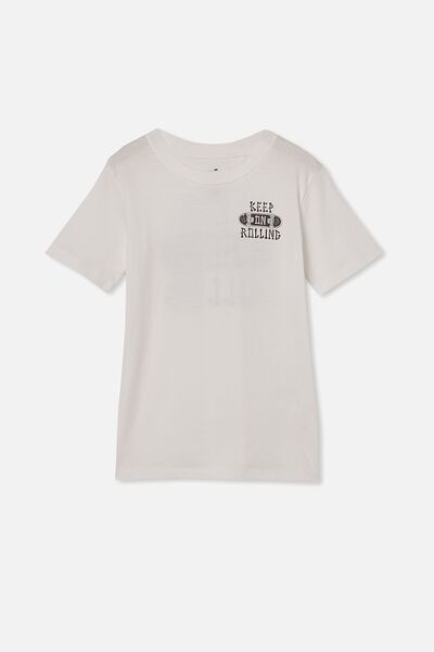 Max Skater Short Sleeve Tee, RETRO WHITE/KEEP ON ROLLING