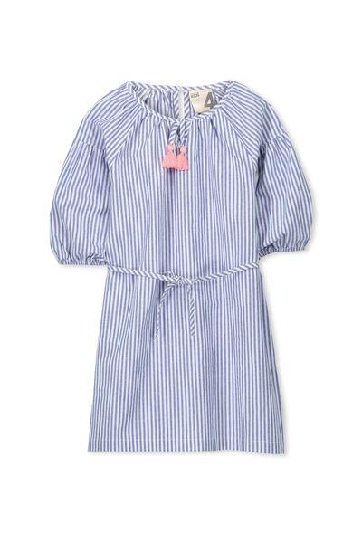 Ava Dress, WALTER BLUE/VANILLA STRIPE