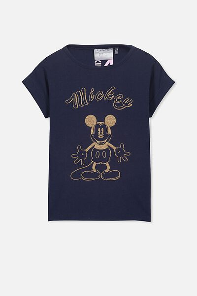 Lux Short Sleeve Retro Tee, MICKEY/PEACOAT