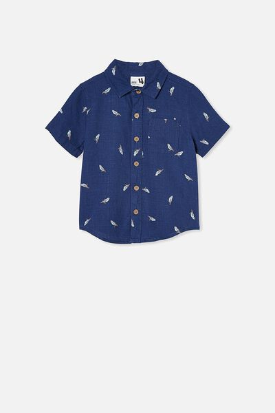 Resort Short Sleeve Shirt, BUDGIES/NAVY