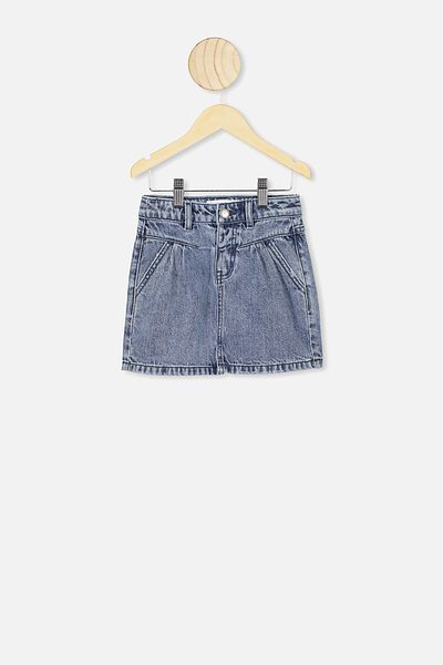 Kirstie Denim Yoke Skirt, RETRO BLUE WASH
