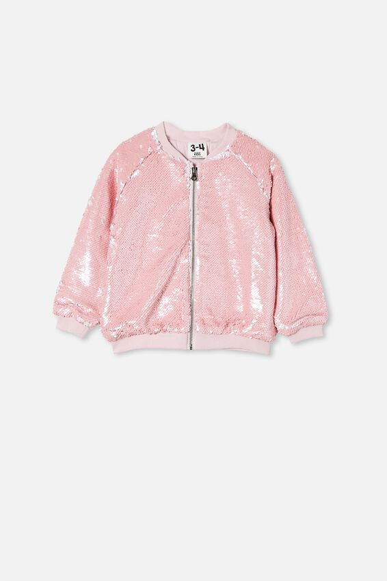 Stella Sequin Jacket, PINK QUARTZ