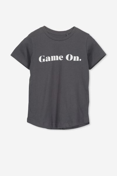 Max Longline Tee, GRAPHITE/GAME ON