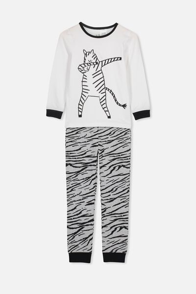 b8d3b3b7a Harrison Long Sleeve Boys Pyjamas, DABBING ZEBRA. Cotton On Kids