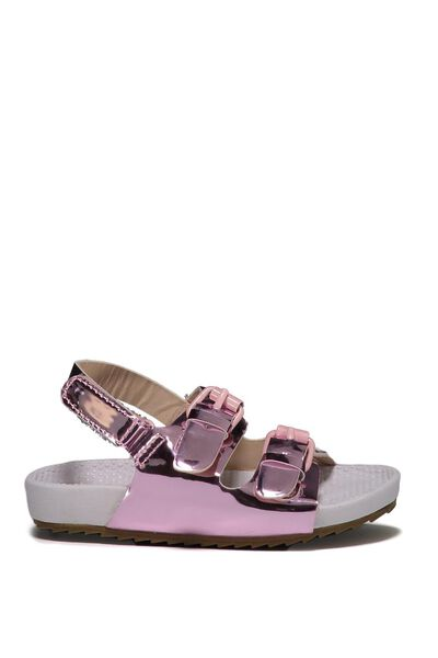 Mini Sling Back Sandal, METALLIC PINK