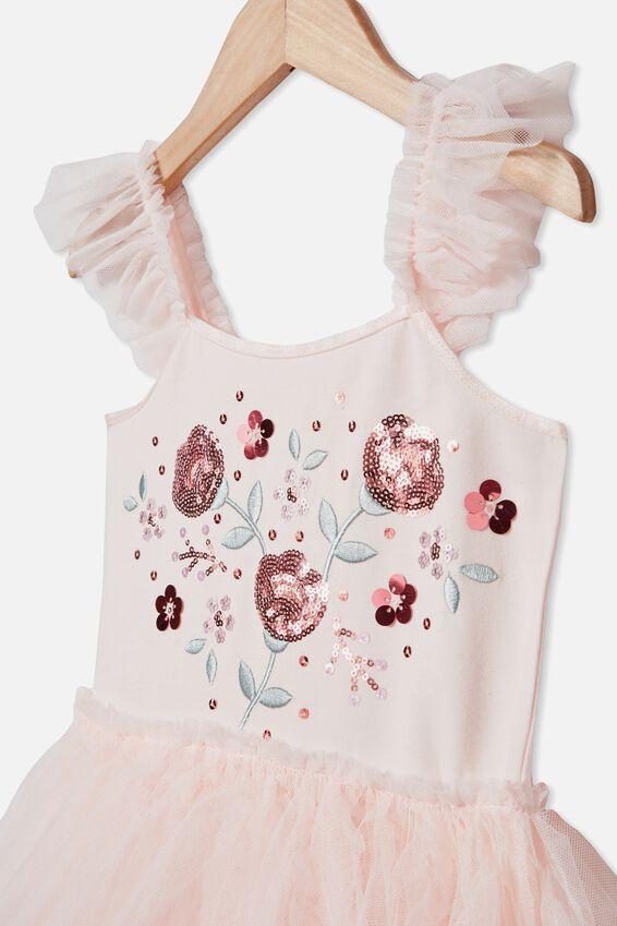 Iris Dress Up Dress, CRYSTAL PINK/FLOWERS