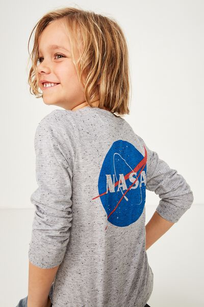 Licence Long Sleeve Tee, LCN GREY NEP/NASA
