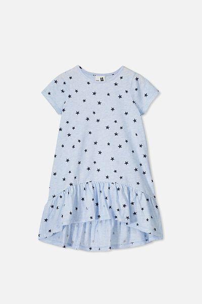 Joss Short Sleeve Dress, BLUE MARLE/STARS