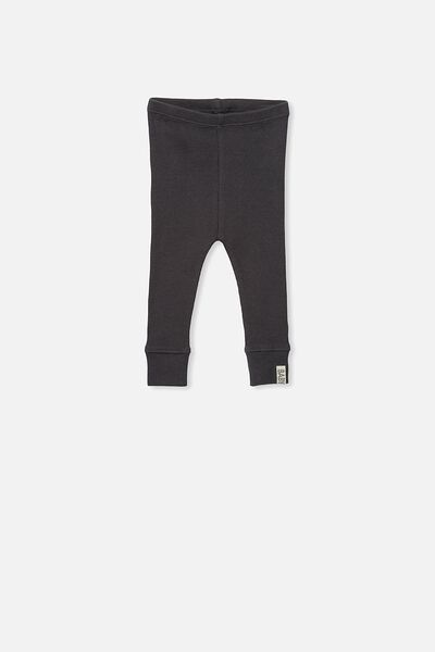 Mini Ribbed Legging, GRAPHITE GREY