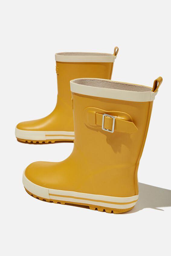 Fashion Gumboots, HONEY GOLD ECRU 2