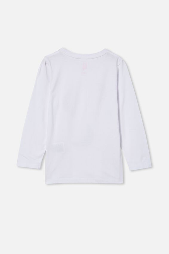 Penelope Long Sleeve Tee, WHITE/GLITTER MOONS
