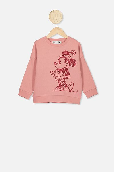 Lux Crew, LCN DIS MUSK ROSE/MINNIE FRONT & BACK