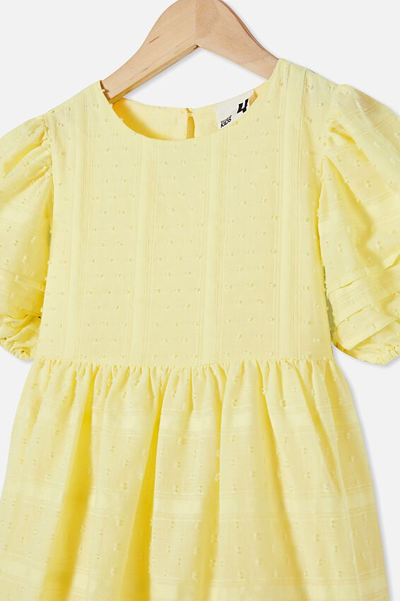 Mika Short Sleeve Dress, LEMONADE