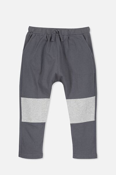 Felix Slouch Pant, GRAPHITE/LIGHT GREY MARLE SPLICE