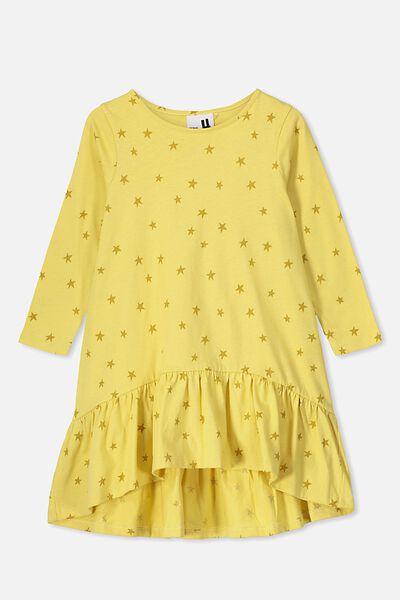 Joss Long Sleeve Dress, CORN SILK/STARS