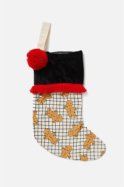 Kids Large Stocking, GINGERBREAD