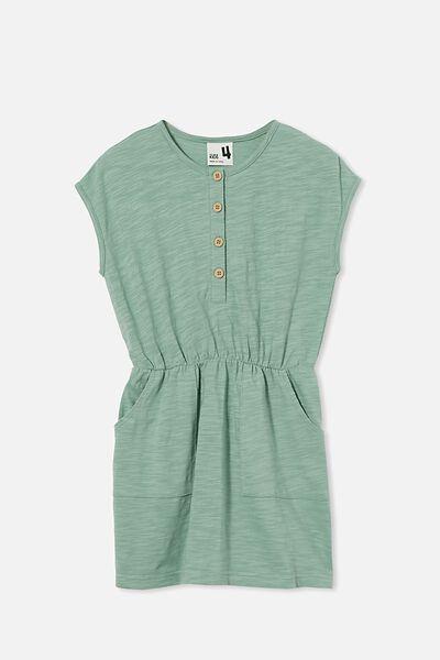 Sigrid Short Sleeve Dress, SMASHED AVO