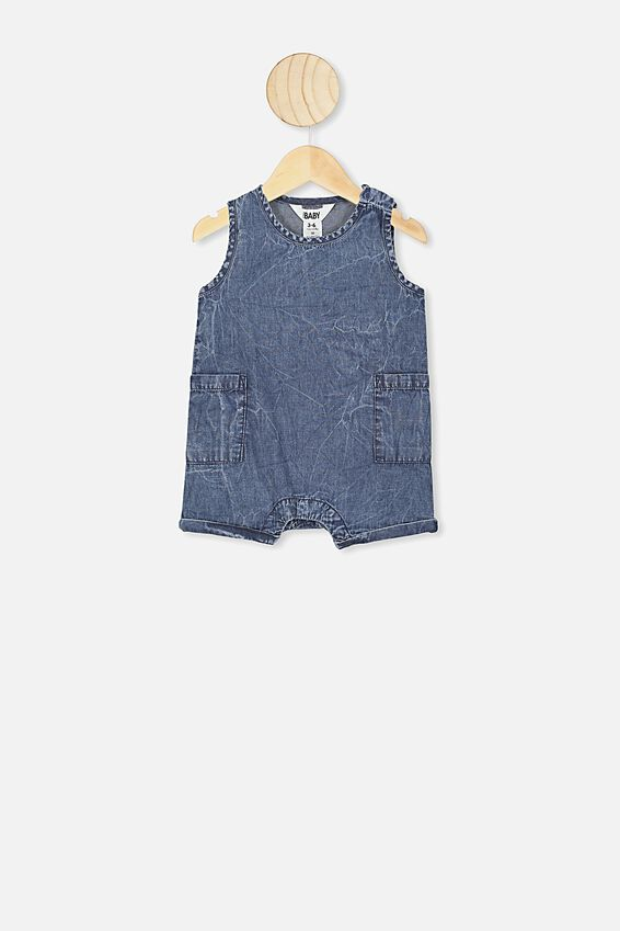 Tommy Romper, CHAMBRAY WASH