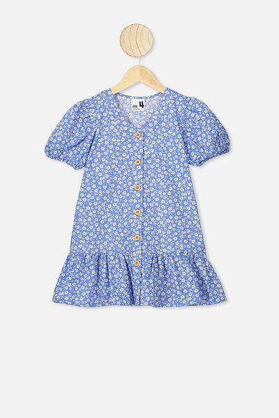 Lulu Short Sleeve Dress, ULTRAMARINE/PAPERCUT DAISY