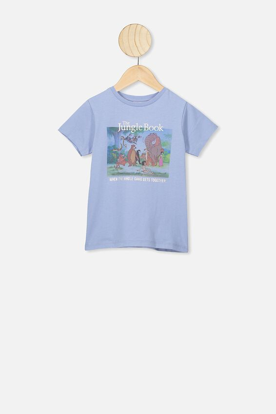 Lux Short Sleeve Tee, LCN DIS DUSTY BLUE/THE JUNGLE BOOK