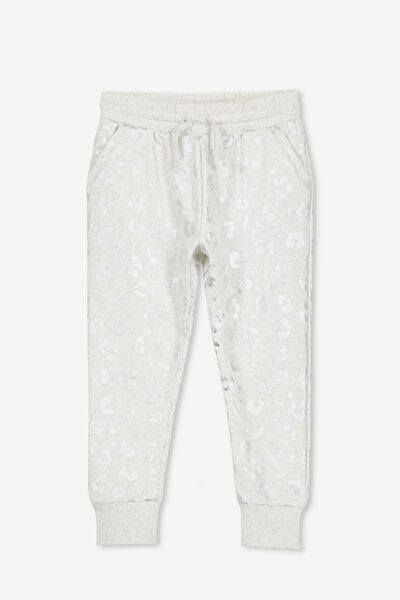 Kendra Premium Trackpant, SUMMER GREY MARLE/SILVER ANIMAL
