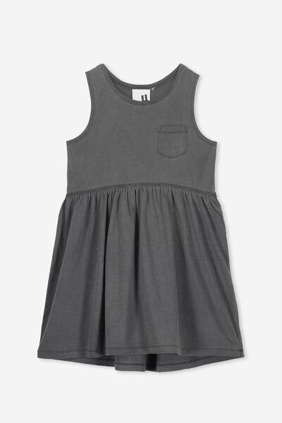 Freya Sleeveless Dress, GRAPHITE GREY