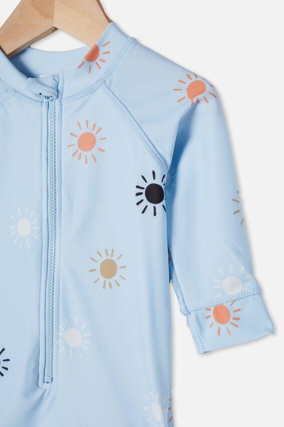Cameron Long Sleeve Swimsuit, FROSTY BLUE/SUNRAYS