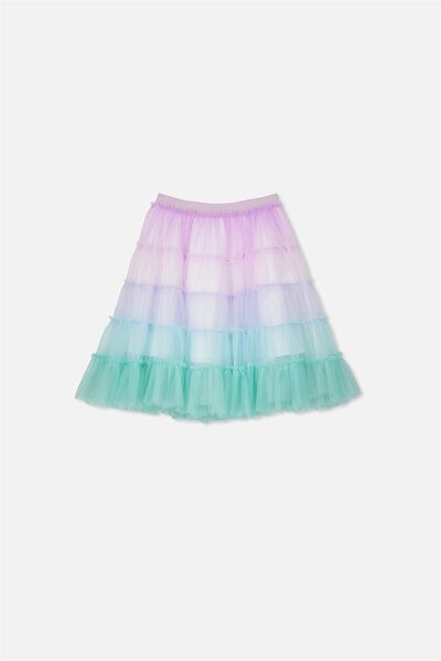 Trixiebelle Tulle Skirt, RAINBOW UNICORN