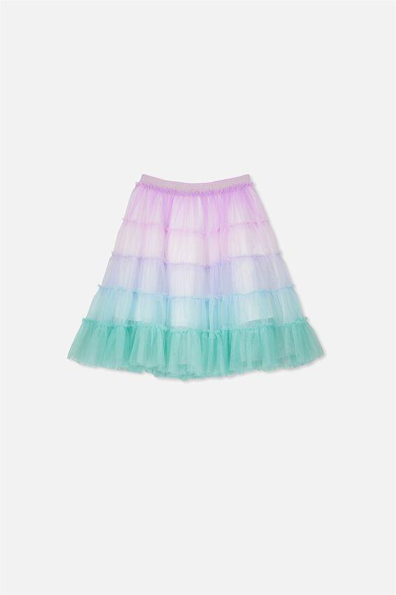 Trixibelle Tulle Skirt, RAINBOW UNICORN