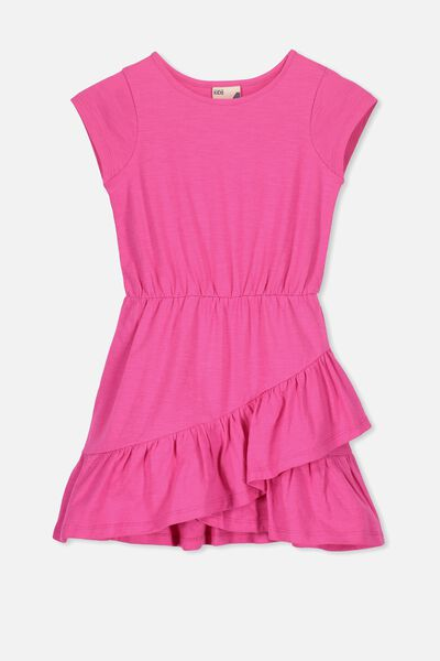 Joey Short Sleeve Dress, BRIGHT PINK
