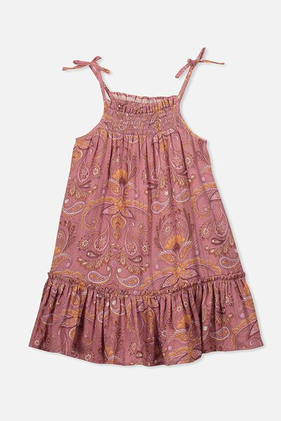 Lila Sleeveless Dress, RUSTY ROSE/PAISLEY
