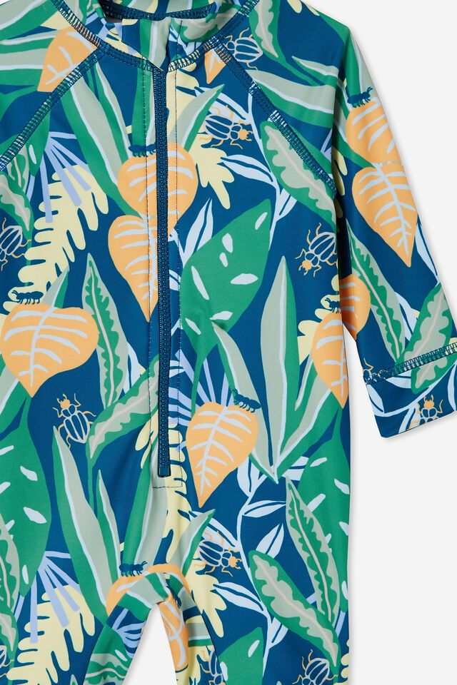 Cameron Long Sleeve Swimsuit, SUBMARINE BLUE/HOLIDAY BOB