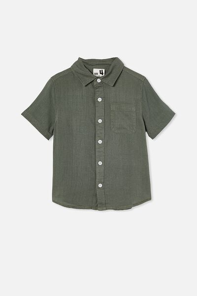 Resort Short Sleeve Shirt, SWAG GREEN