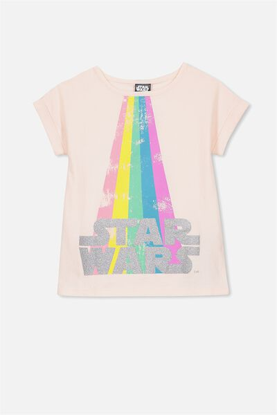 Lux Short Sleeve Retro Tee, LIGHT PINK/STAR WARS