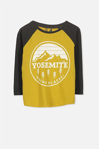 Tom Long Sleeve Tee, YOSEMITE/RAGLAN