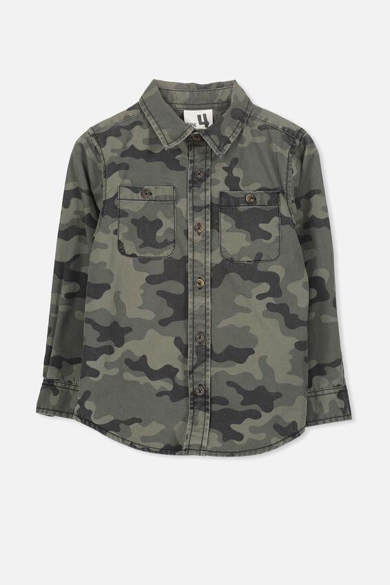 Noah Long Sleeve Shirt, CAMO