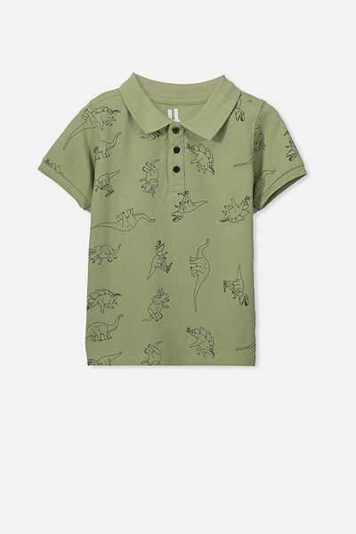 Kenny 3  Polo, SUMMER KHAKI/DINOS