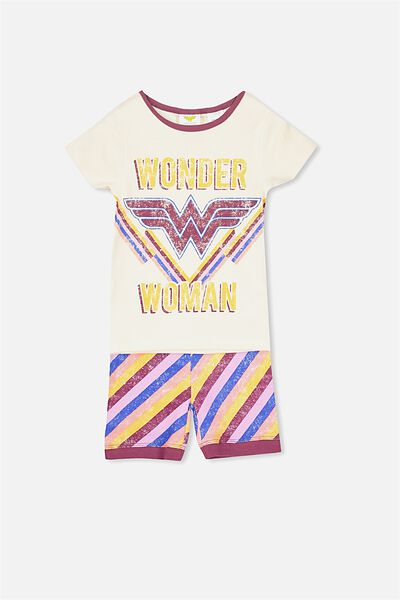 Chloe Girls Short Sleeve PJ Set, LCN DC WONDER WOMAN