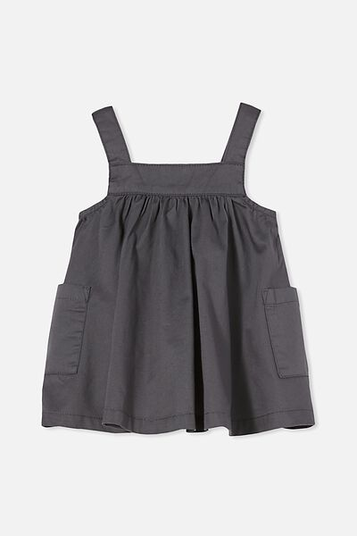 Penny Pinafore Dress, RABBIT GREY