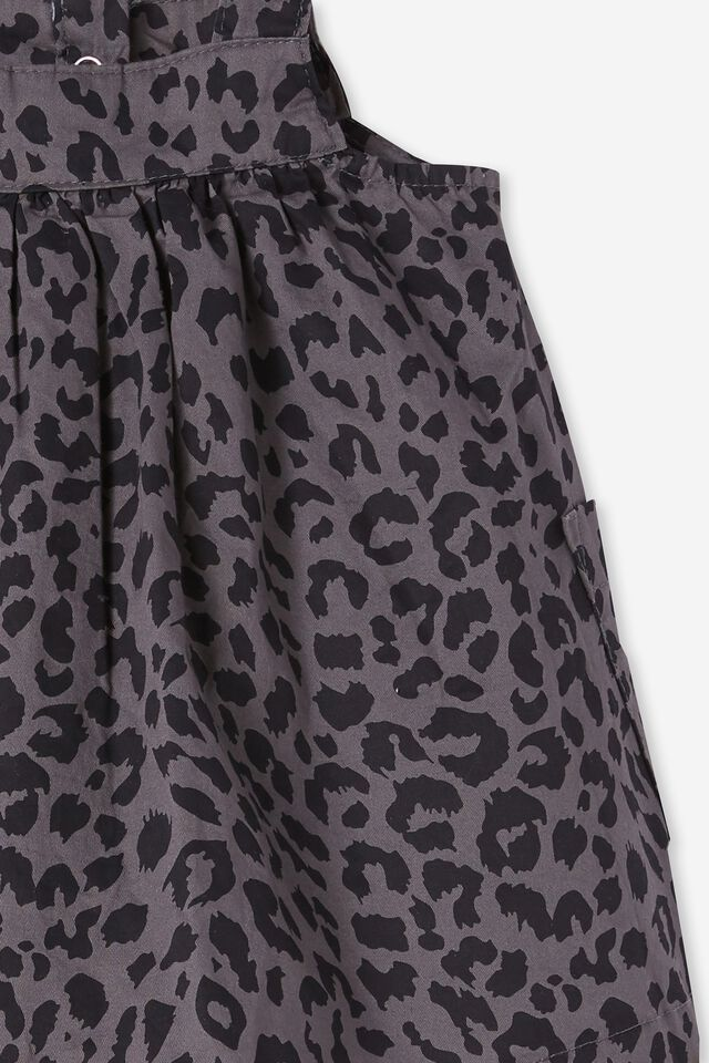 Penny Pinafore Dress, RABBIT GREY SUMMER OCELOT